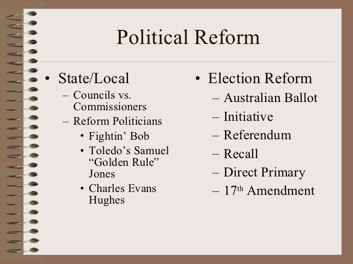 Recall Election Progressive Era The progressive era