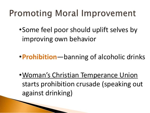 the drinking behavior that alarmed the prohibition movement By the 1920s, the temperance movement was almost a century old4 the  from  individuals and societies the evils of immoral behaviour such as drinking,  smoking  quebec move to nationalization of alcohol sale startled.