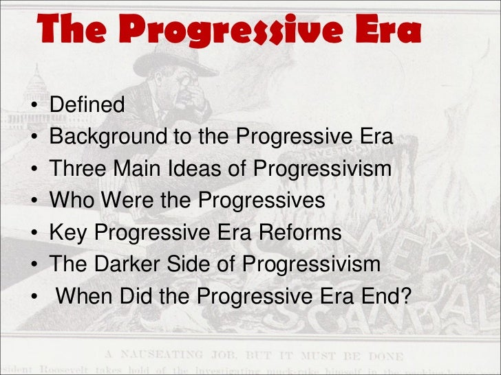 Essay on the progressive era