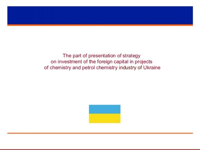 The part of presentation of strategy on investment of the foreign capital in projects of chemistry and petrol chemistry in...