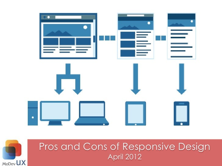 Pros and Cons of Responsive Design             April 2012