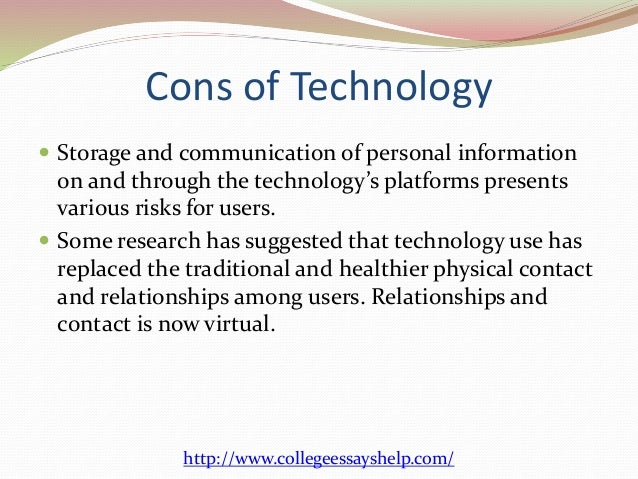 essay on technology and communication Communication and technology essays: over 180,000 communication and technology essays, communication and technology term papers, communication and technology research.