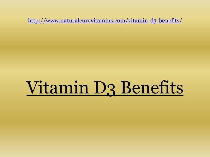 The pros of vitamin d3
