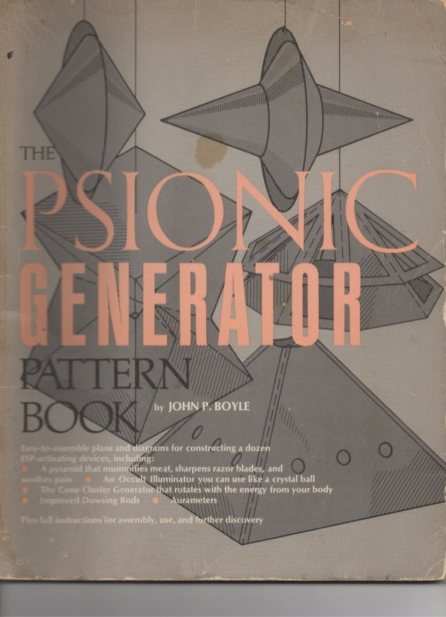 Book Cover Pattern Generator ~ The psionic generator pattern book