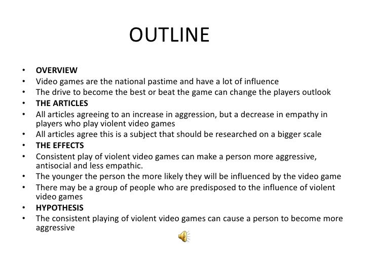 Argumentative Essay Violence Video Game