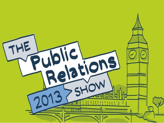 The public relations show 2013 - visual summary