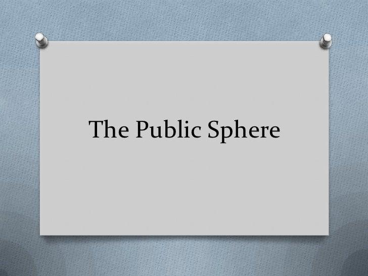 The Public Sphere