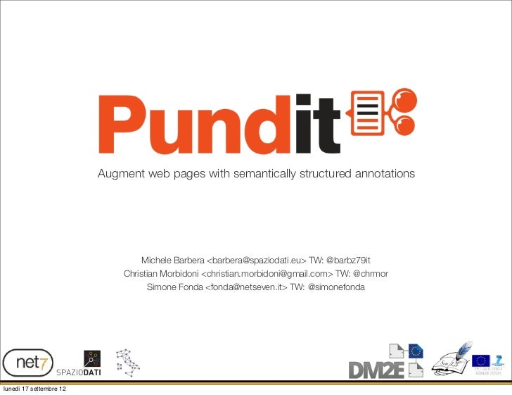 Augment web pages with semantically structured annotations                                  Michele Barbera <barbera@spazi...