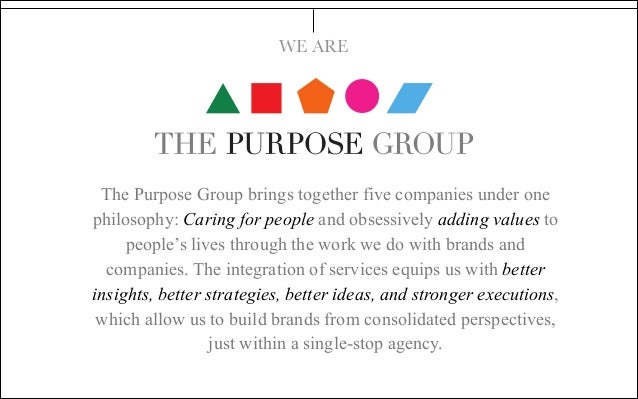 The Purpose Group  Credentials