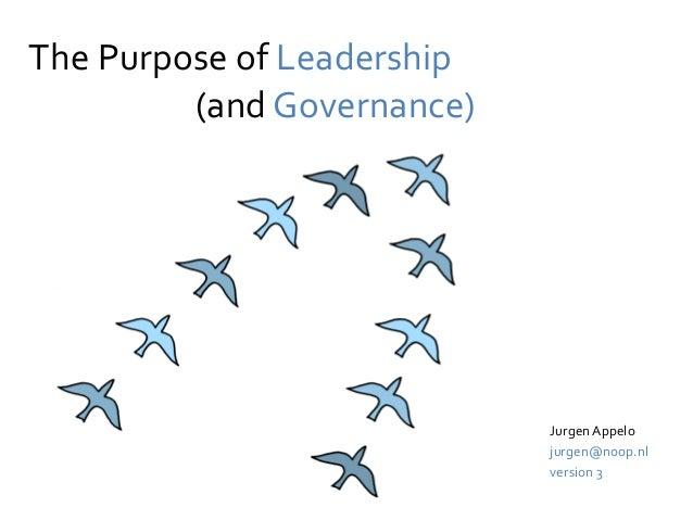The Purpose of Leadership