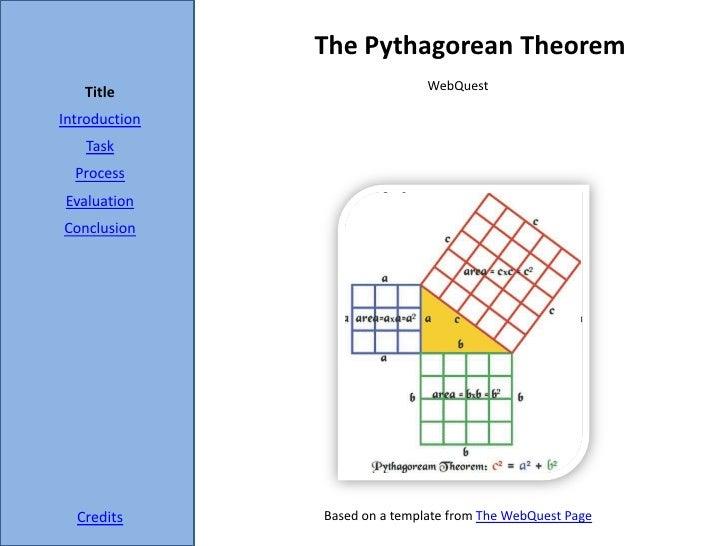 The pythagorean theorem webquest  mathconn