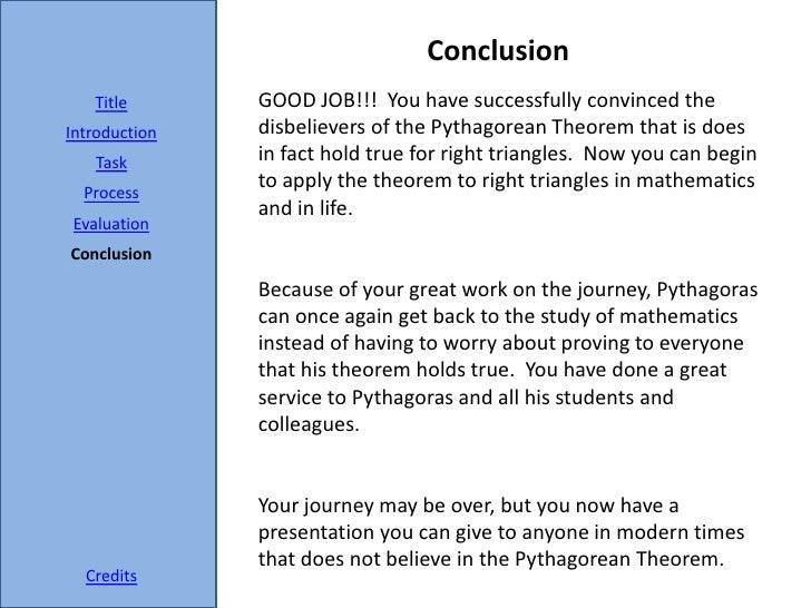 pythagoras math essay