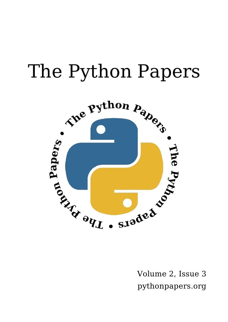 The Python Papers               Volume 2, Issue 3           pythonpapers.org