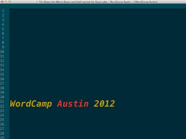 WordCamp Austin 2012