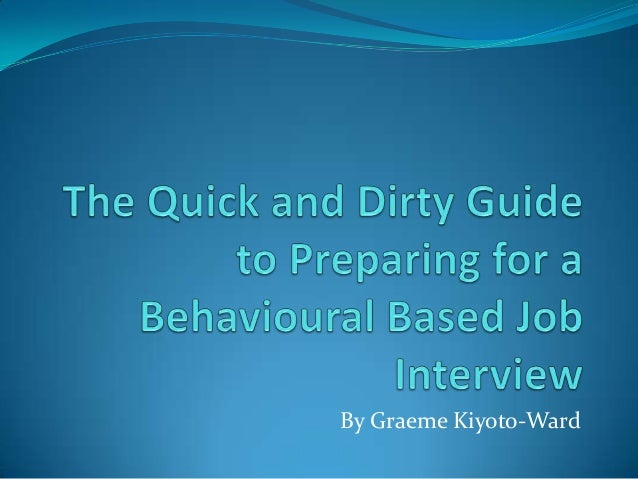 preparing for behavioural interview