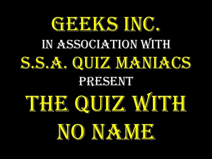 The quiz with no name