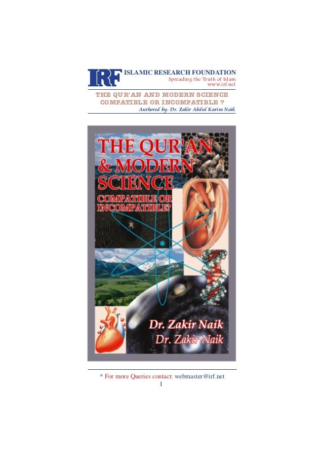 The Qur'an & Modern Science  - compatible or incompatible