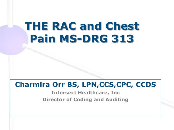 The RAC & Chest Pain MS-DRG 313