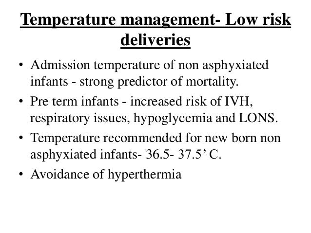 nice guidelines therapeutic hypothermia neonatal