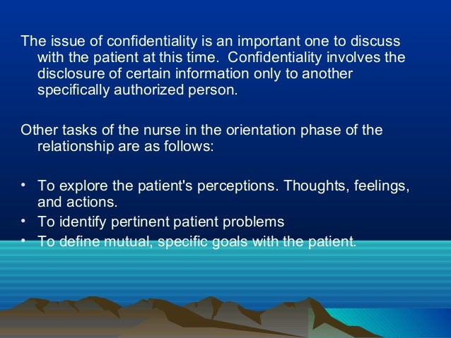 the development of a therapeutic nurse patient relationship Professional boundaries and the nurse-client relationship:  in the development of the  boundary of a therapeutic relationship, it is likely that the nurse's.