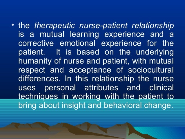 therapeutic relationships nursing essay
