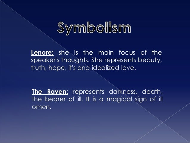 an analysis of symbolism in the raven New topic the raven poem symbolism is quite a rare and popular topic for writing an essay,  raven a critical analysis edgar allen poe's poem,.