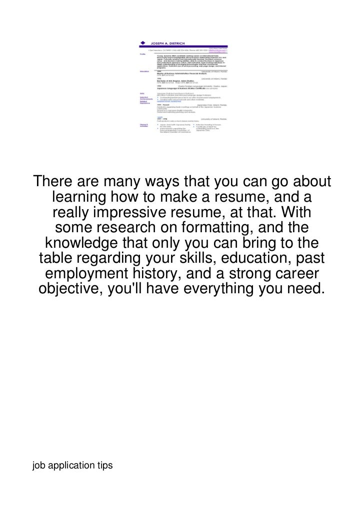 There are many ways that you can go about   learning how to make a resume, and a   really impressive resume, at that. With...