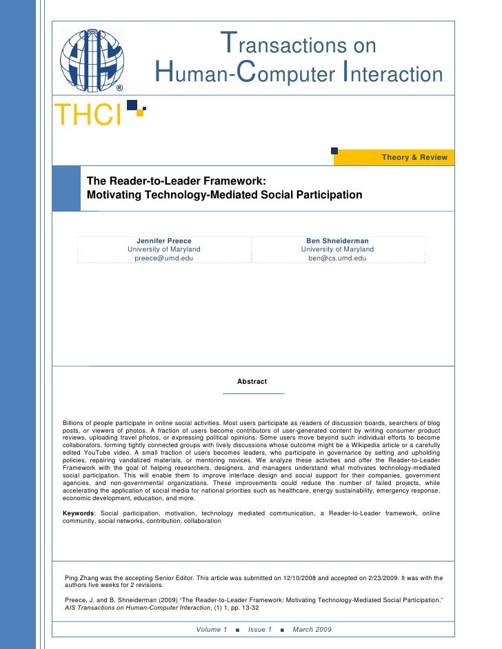 Transactions on                                 Human-Computer Interaction THCI                                           ...