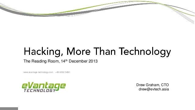 The Reading Room, 14th December 2013 Drew Graham, CTO drew@evtech.asia www.evantage-technology.com +65 6592 5450