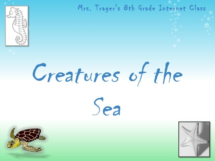 Creatures of the Sea Mrs. Trager's 8th Grade Internet Class