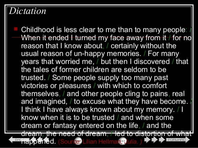 Essay About Your Childhood