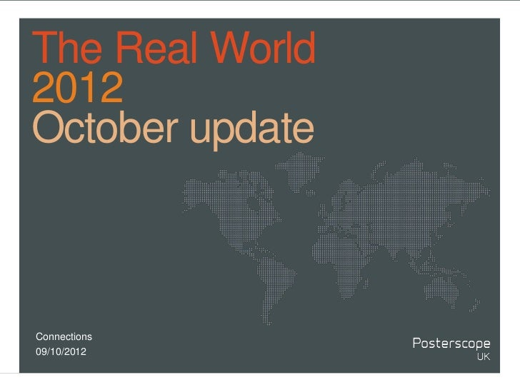 The Real World October 2012