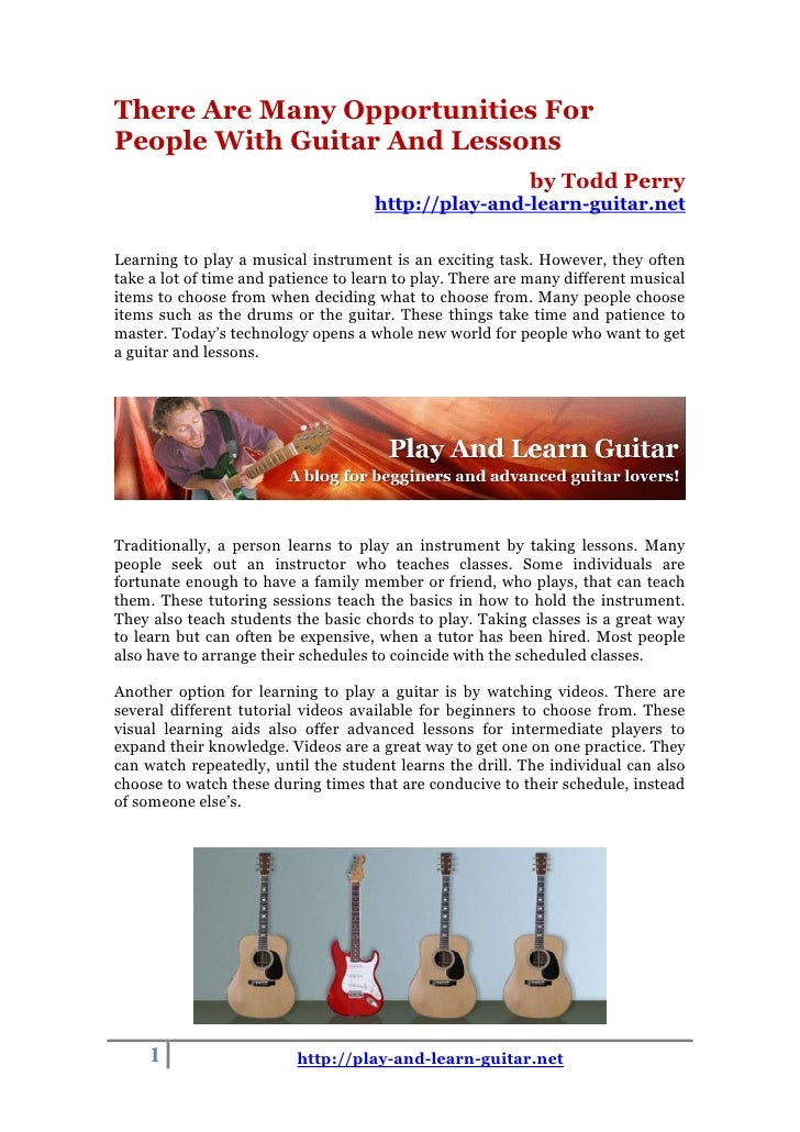 There Are Many Opportunities ForPeople With Guitar And Lessons                                                           b...