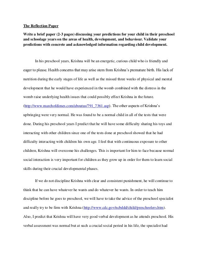 reflective essay samples free