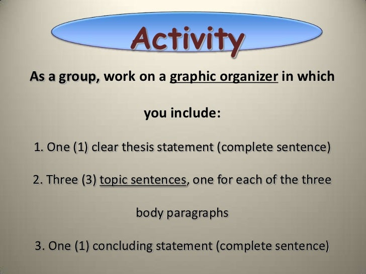 a great essay introduction A thesis sentence is a sentence in the introduction that tells the reader what the  topic or argument of the essay is experienced writers have lit- tle difficulty writing .