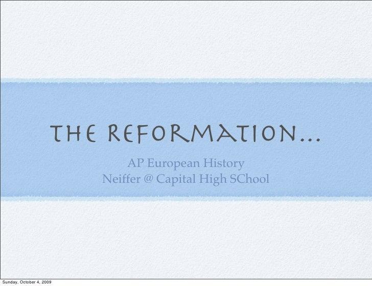 The Reformation Ap European 2009