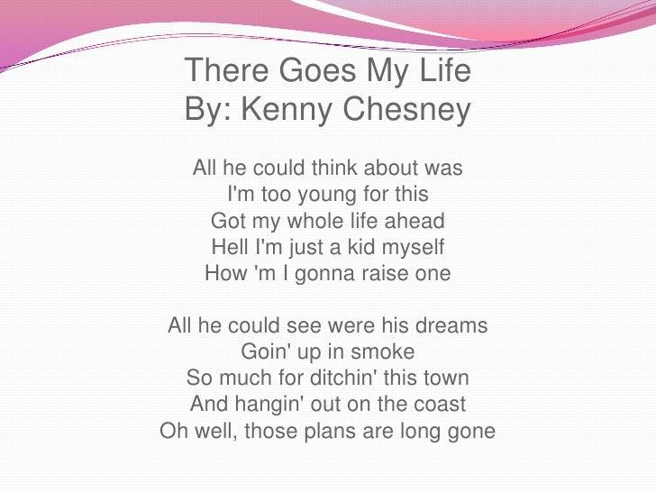 There Goes My Life Lyrics- Kenny Chesney - YouTube