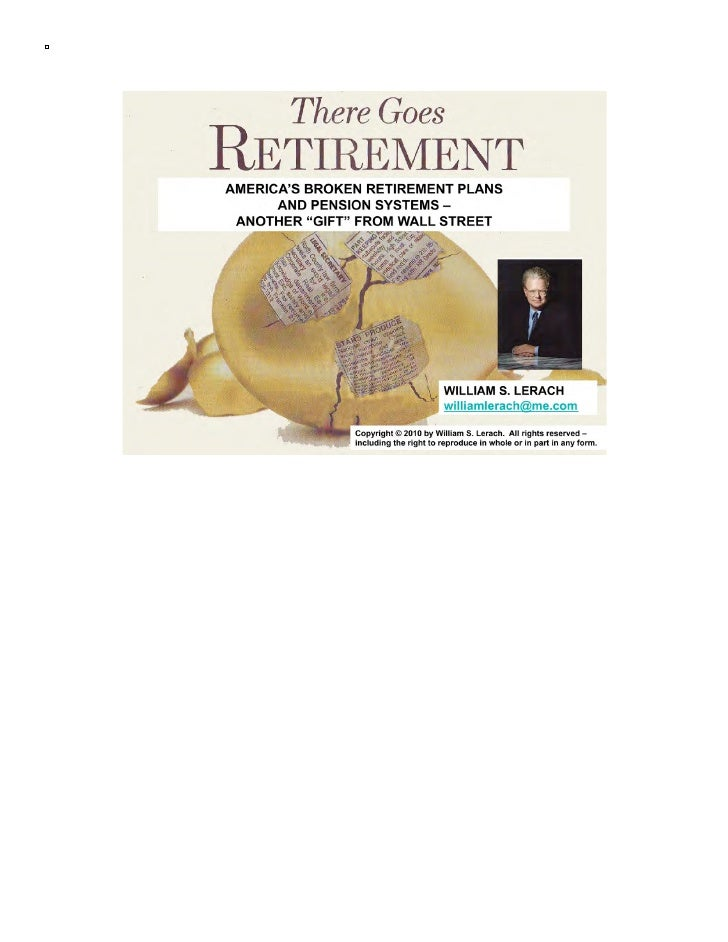 America's Broken Retirement Plans and Pension Systems
