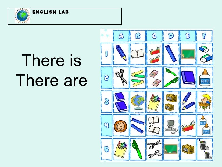 ENGLISH LAB There isThere are