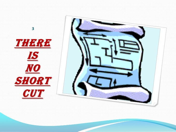 3THERE  IS  NOSHORT CUT