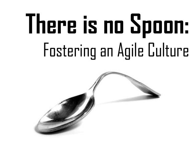 There is no Spoon: Fostering an Agile Culture