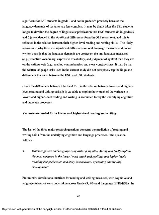 review esl sample literature