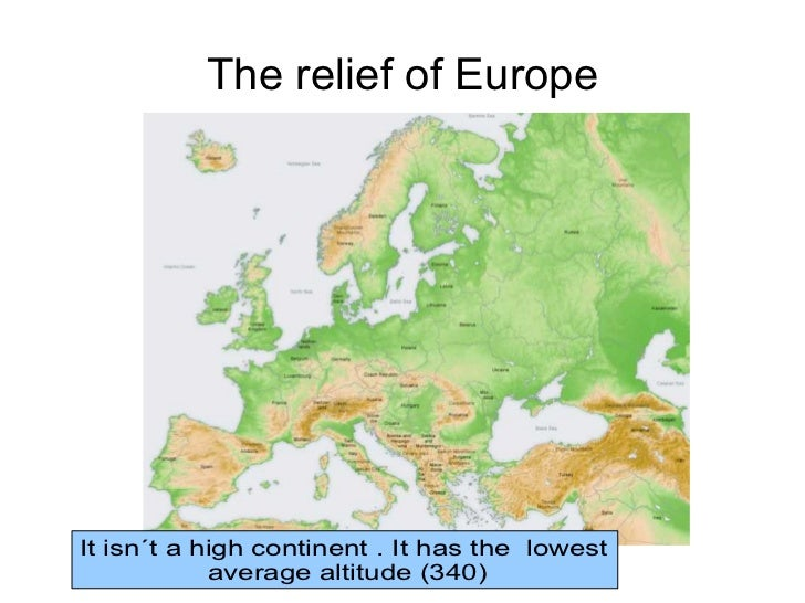 The relief of europe