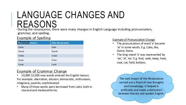 the renaissance amp language change