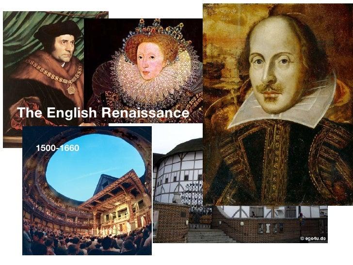 The English Renaissance    1500-1660