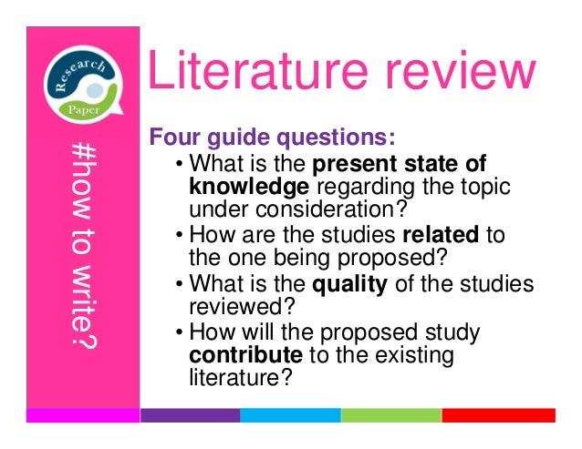 how to write review papers for research There are many good resources that describe the paper reviewing process affect a paper's review writing papers is a part of the research.