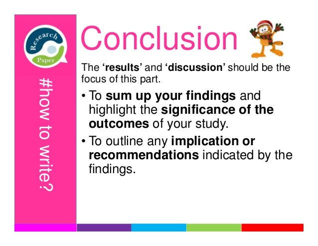 conclusion part of a research paper On this page you can download free sample of the research paper structure, check information about general guidelines to a research paper writing you can also find.