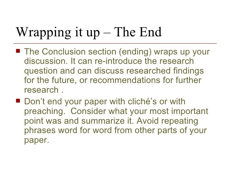 Ending A Research Paper