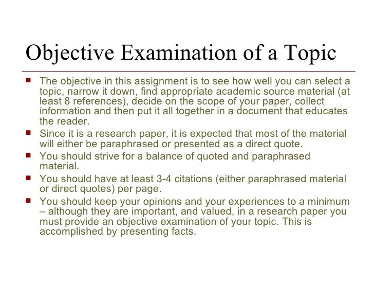 sample of research paper