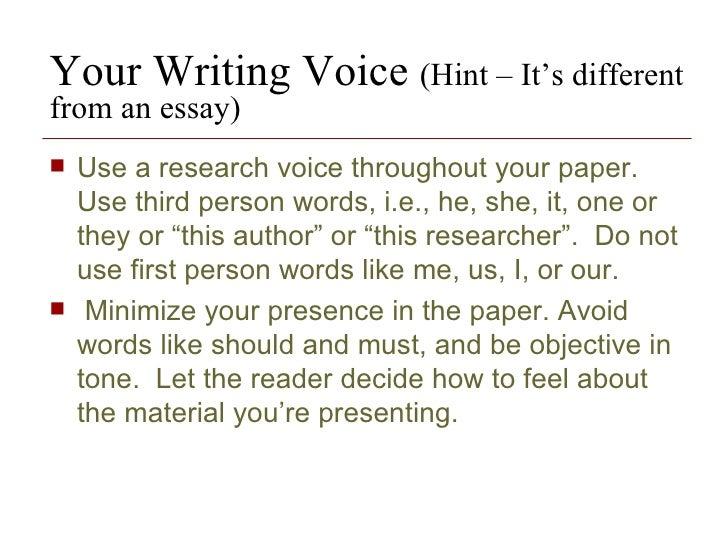 paper written in  rd person